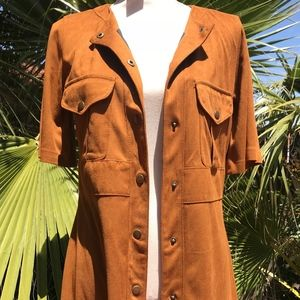 Zara Dress/Coat Botton Down with Pockets